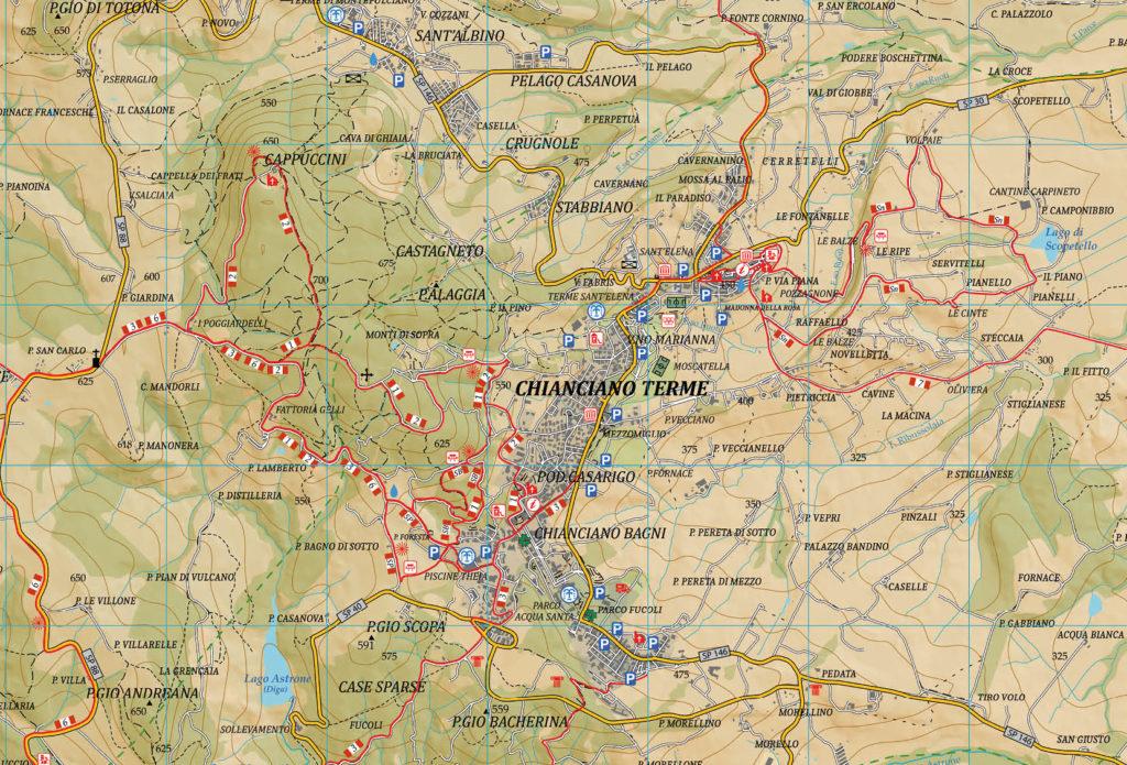 Mappa Sentieristica di Chianciano Terme